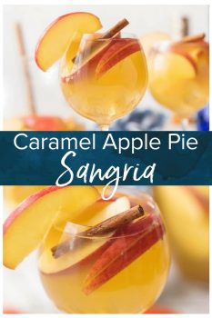 Apple Pie Sangria is a light, refreshing, delicious, and EASY Caramel Apple Sangria! This Fall Sangria Recipe is the hit of every party I take it to!