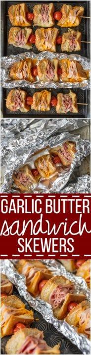 garlic butter sandwich skewers pinterest collage