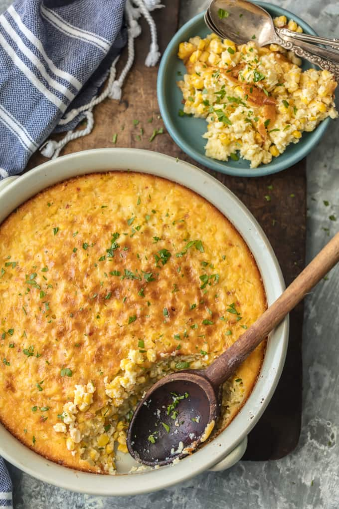 Your holiday table isn't complete without CLASSIC CORN PUDDING! This delicious side dish is the perfect complement for Thanksgiving foods such as turkey and greens or Christmas favorites, especially ham. YUM!