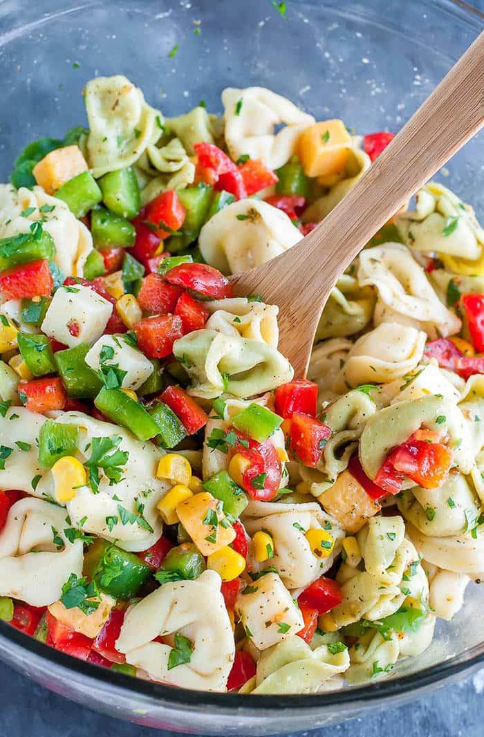 Garden Veggie Tortellini Pasta | Peas and Crayons