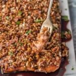 Pecan Crusted Honey Bourbon Salmon