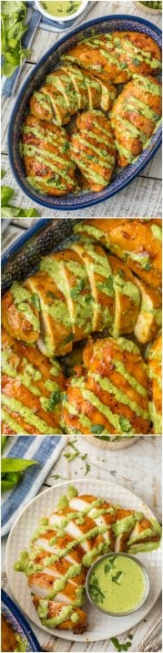 This PERUVIAN CHICKEN WITH GREEN SAUCE is one of our favorite easy weeknight meals. This sauce is EVERYTHING and has so much flavor! This is a must make chicken recipe.