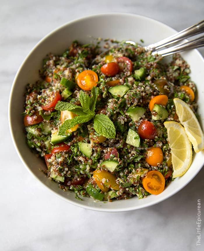 Quinoa Tabbouleh | The Little Epicurean