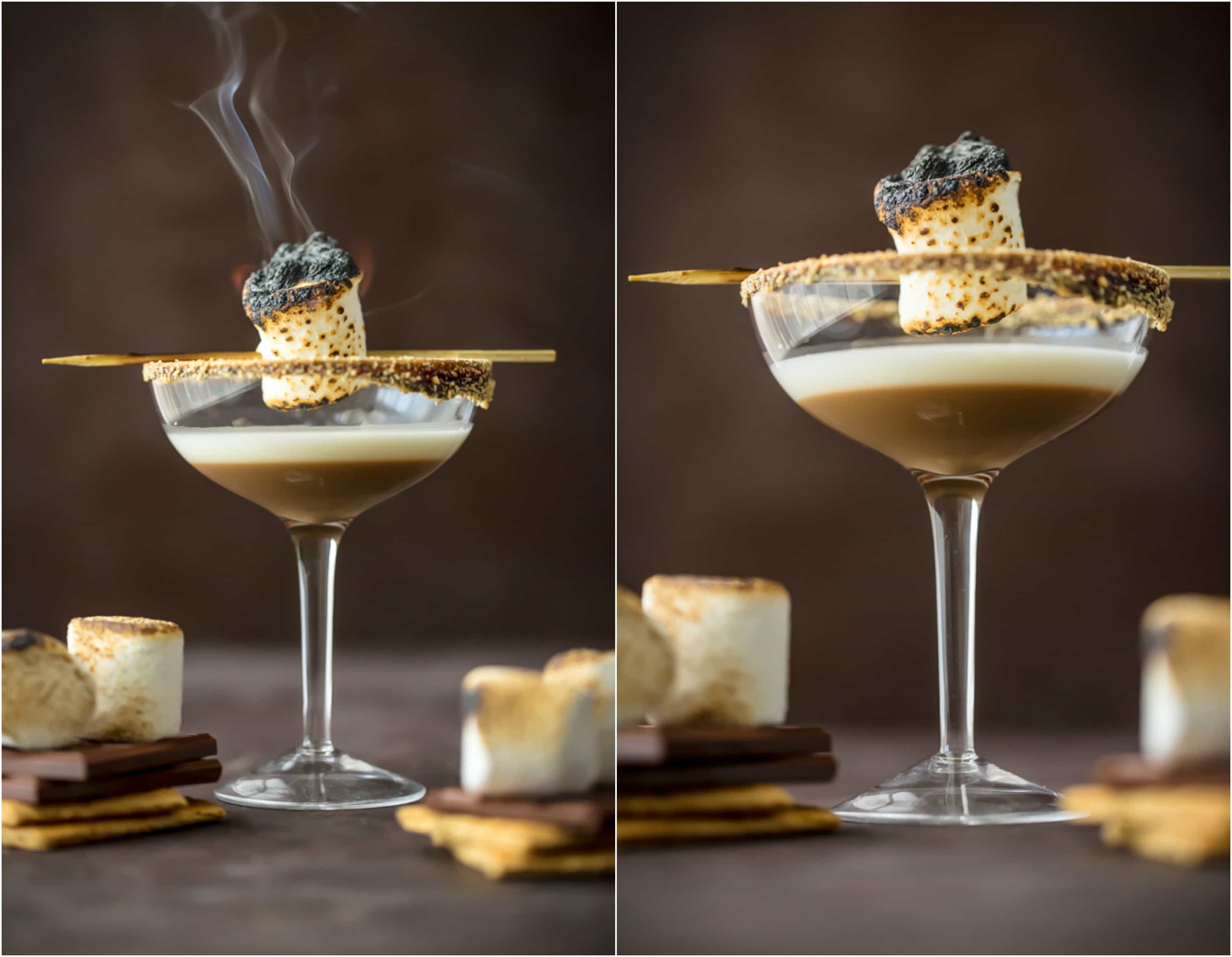 smokey marshmallows in cocktails