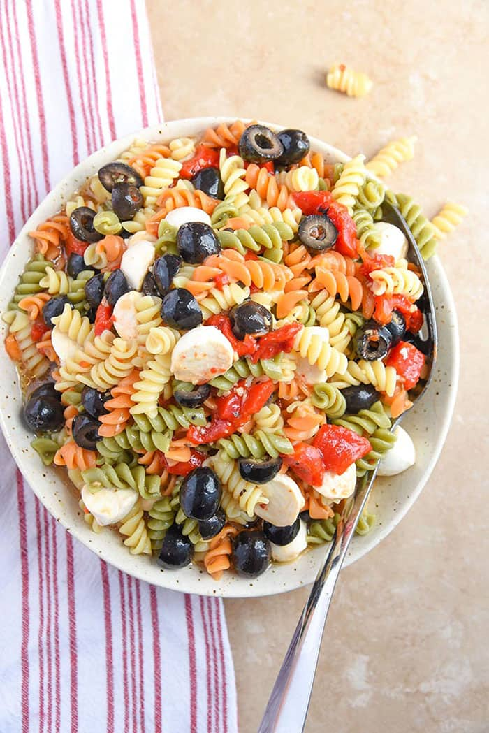 Tri Colored Pasta Salad | Courtney's Sweets