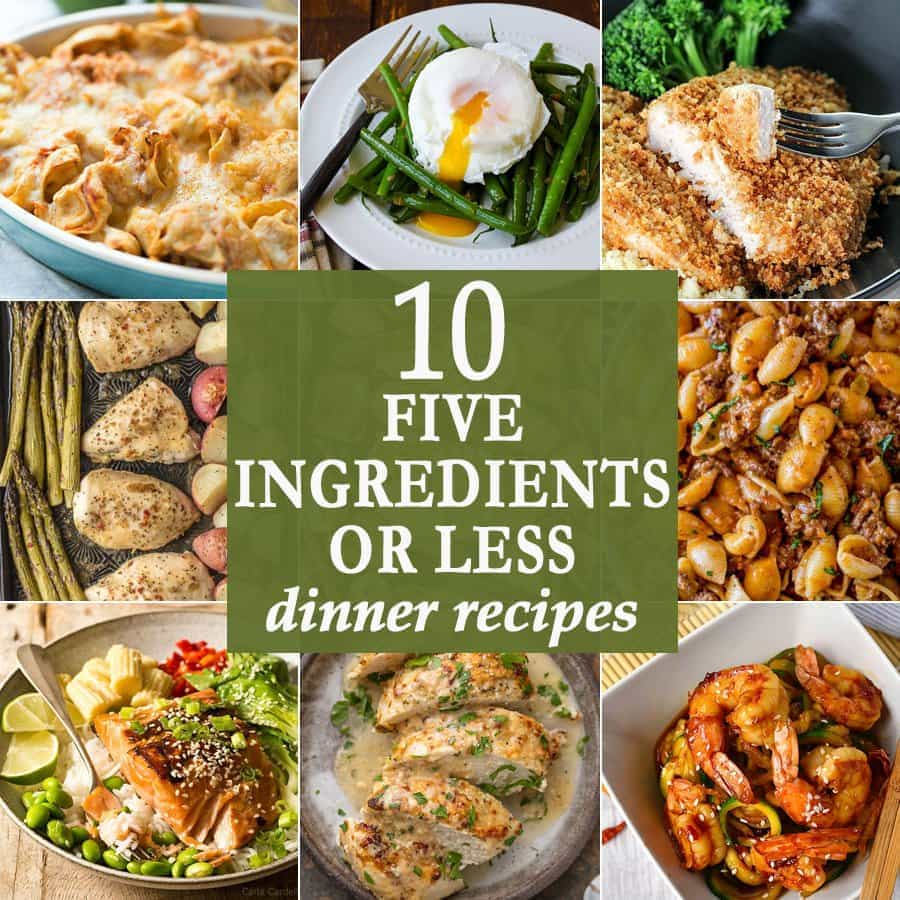 10 five ingredients or less dinners the cookie rookie 5 ingredients or less dinner recipes the cookie rookie forumfinder Image collections