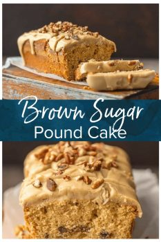 Brown Sugar Pound Cake with Brown Sugar Icing (let's be honest, it's mostly caramel) is utterly delicious and just perfect for Fall. A simple classic that everyone loves. This makes a wonderful and delicious homemade gift for Christmas. The pecans add a little extra crunch to this sweet and amazing Easy Pound Cake Recipe.