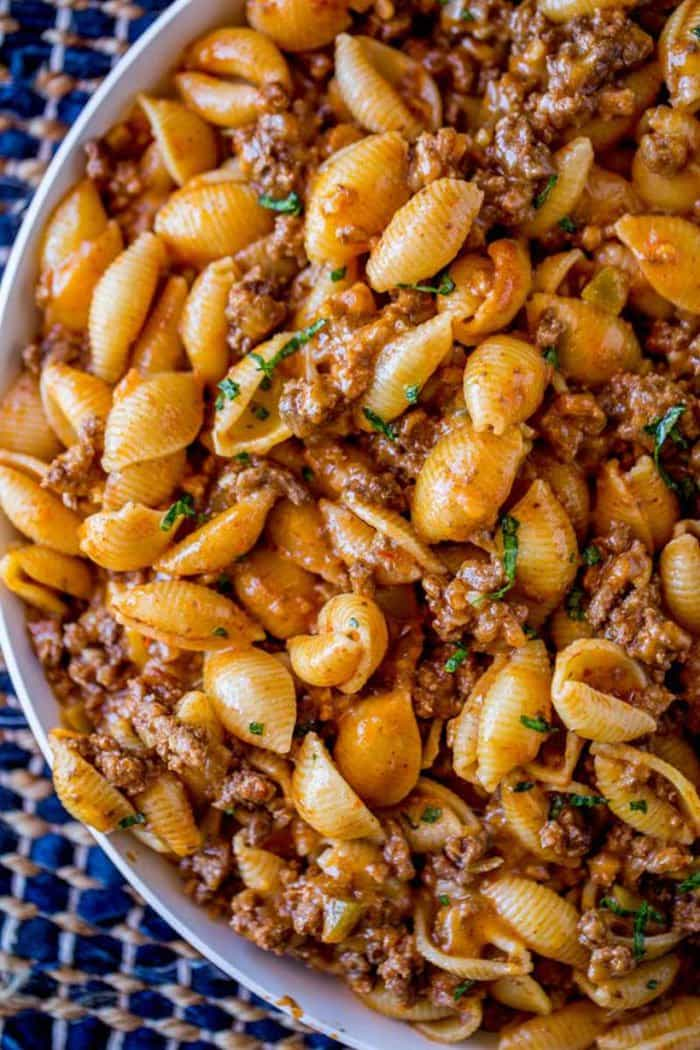 Cheesy Taco Pasta | Dinner Then Dessert