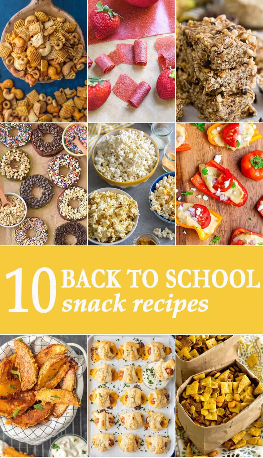 Back to School Snack Recipes | The Cookie Rookie