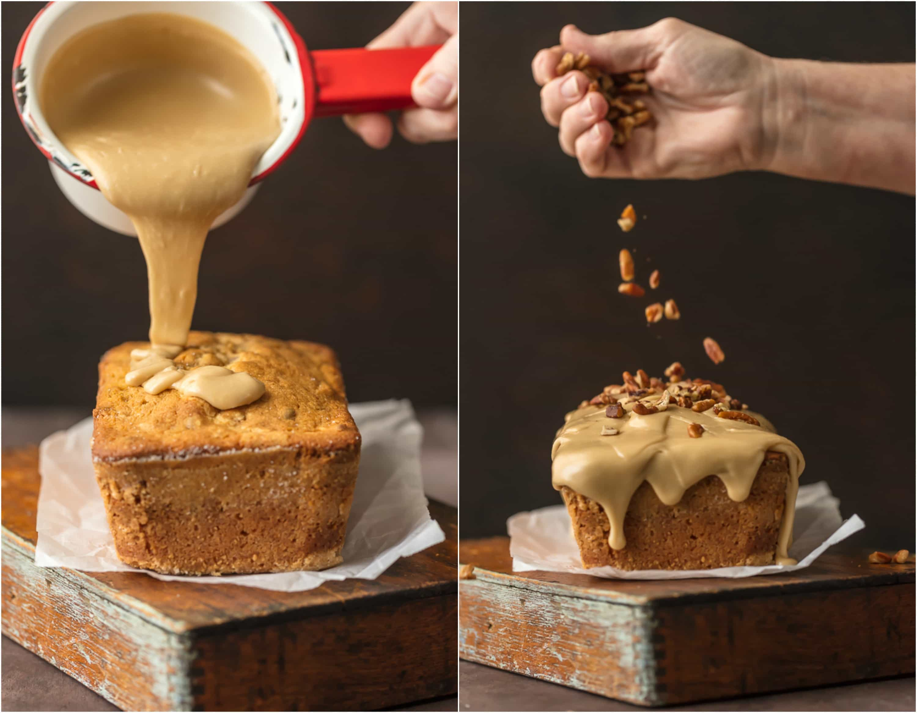 Brown Sugar Pound Cake with BROWN SUGAR ICING (let's be honest, it's caramel) is utterly delicious and just perfect for Fall. A simple classic that everyone loves. This makes a wonderful and delicious homemade gift for Christmas. The pecans add a little extra crunch to this sweet and amazing Easy Pound Cake Recipe.