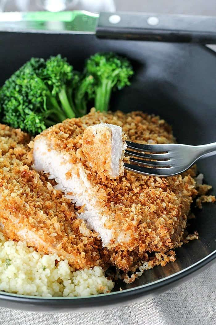 Crispy Baked Pork Chops | Yummy Healthy Easy