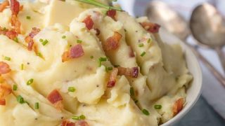 Cheesy Mashed Potatoes with Bacon and Goat Cheese