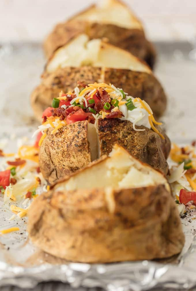 the perfect baked potatoes