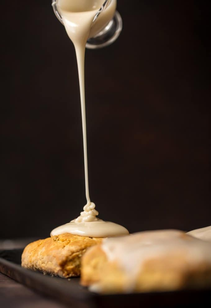 Easy scone recipe with maple icing