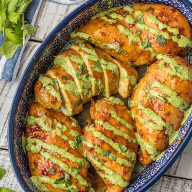 This PERUVIAN CHICKEN RECIPE WITH GREEN SAUCE is one of our favorite easy weeknight meals. This sauce is EVERYTHING and has so much flavor! This Peruvian Chicken is a must make chicken recipe.