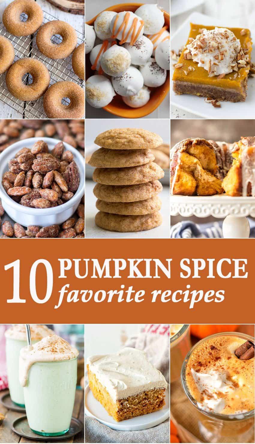 Pumpkin Spice Favorite Recipes