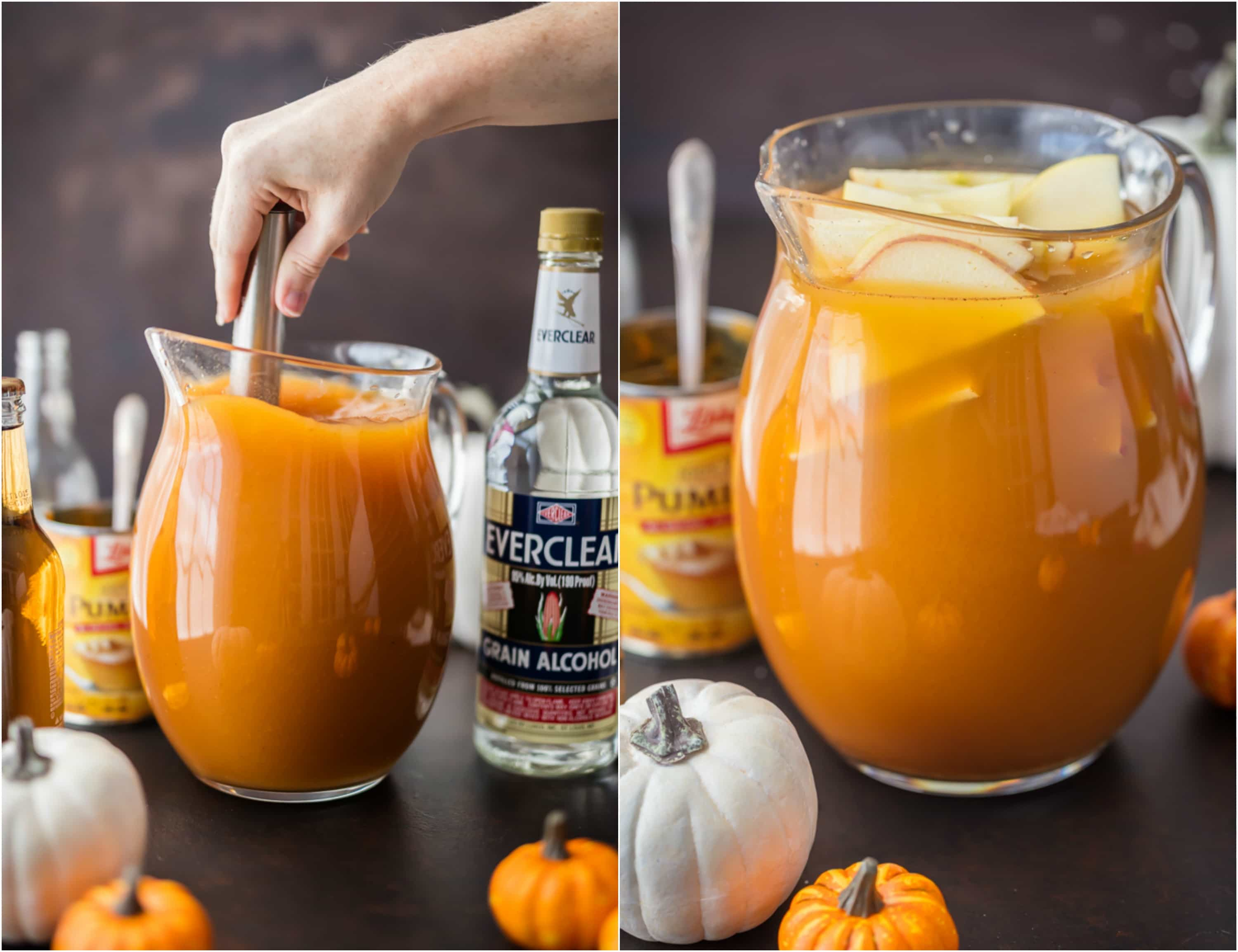 pumpkin punch (thanksgiving or halloween punch idea)