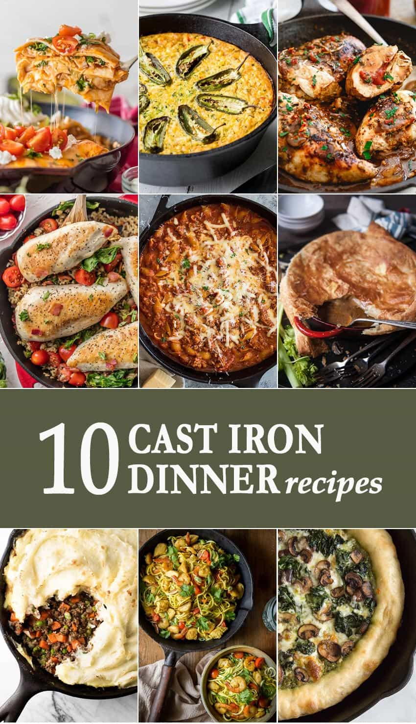 10 Cast Iron Dinner Recipes