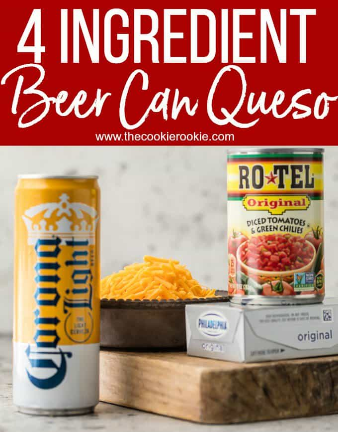 4 Ingredient Beer Can Queso Dip Recipe