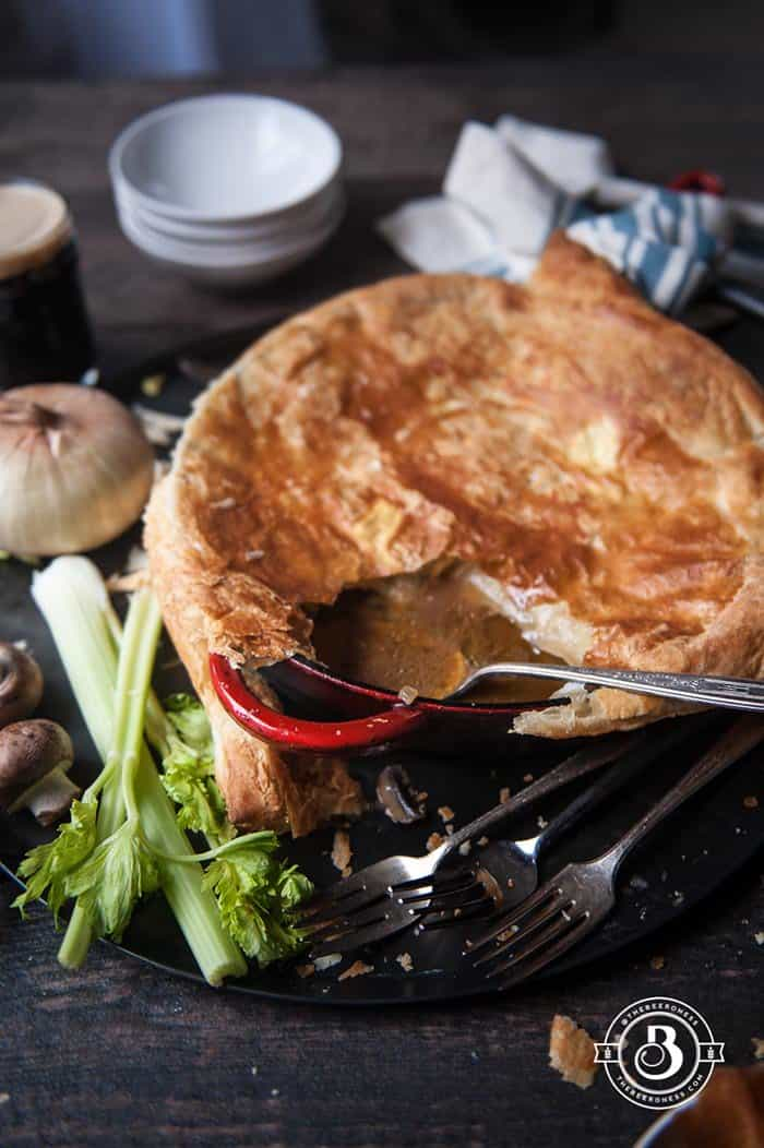 Mushroom Stout Skillet Chicken Pot Pie | The Beeroness