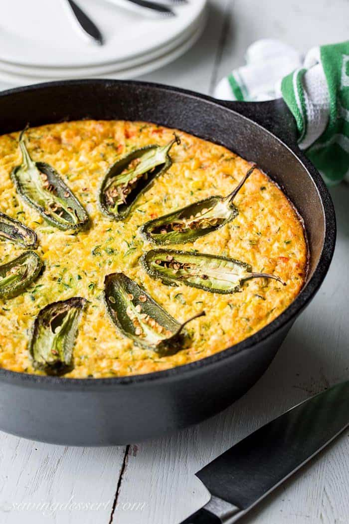 Corn and Zucchini Casserole | Saving Room for Dessert