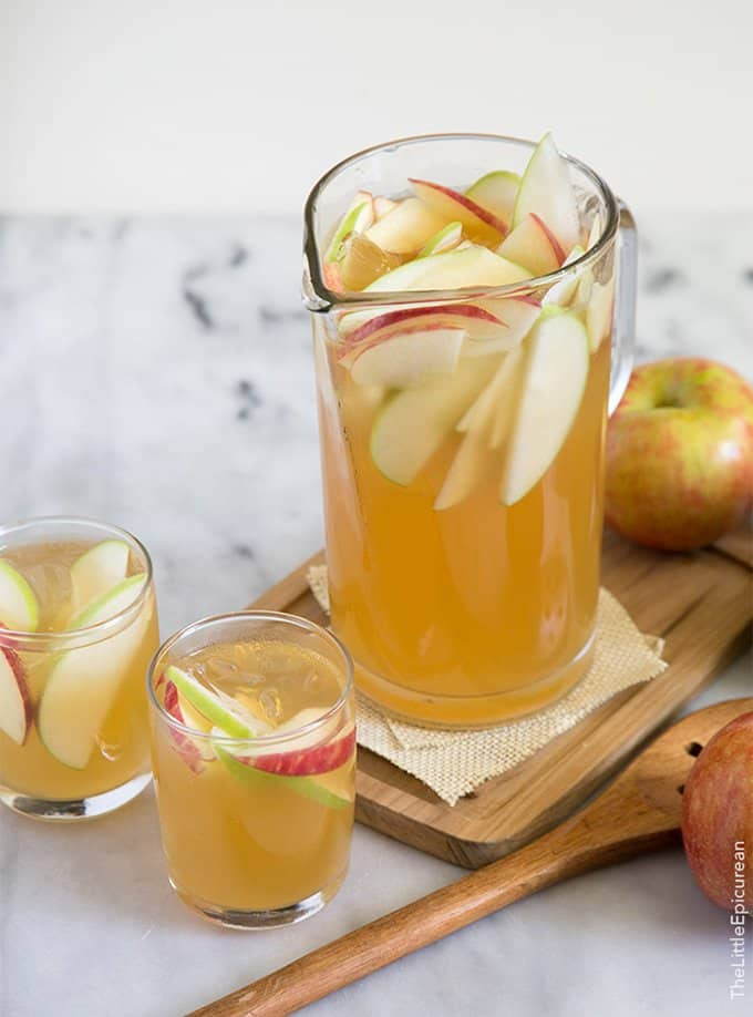 Apple Cider Sangria | The Little Epicurean