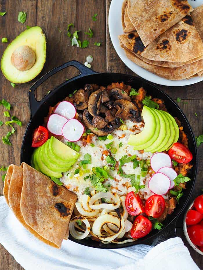 Fully Loaded Refried Bean Skillet | Rachael Hartley Nutrition