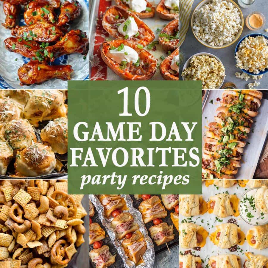 10 Game Day Favorites Party Recipes | The Cookie Rookie
