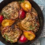 pork chops in pan