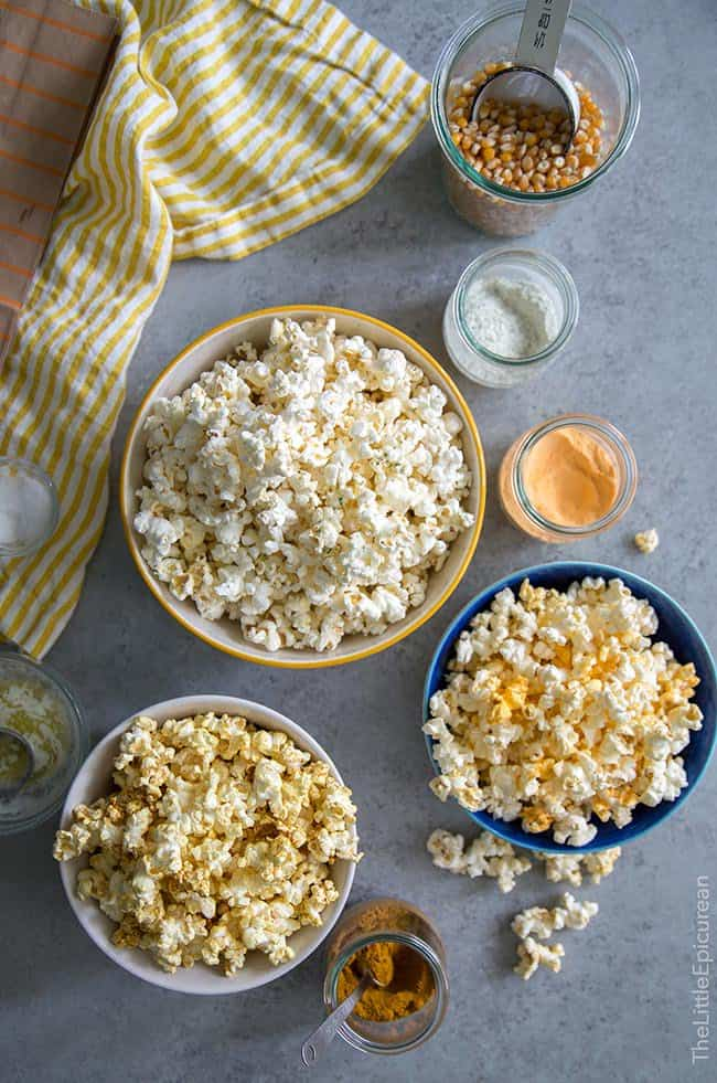 Homemade Microwave Popcorn with Flavor Mix-Ins | The Little Epicurean