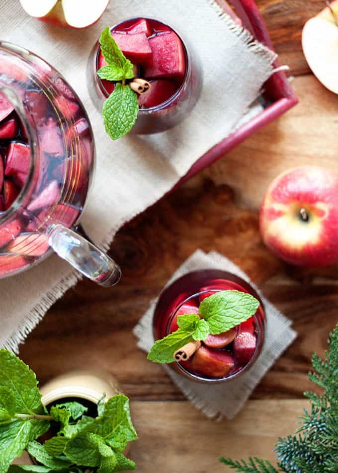 Juicy Red Apple Sangria | Kitchen Treaty