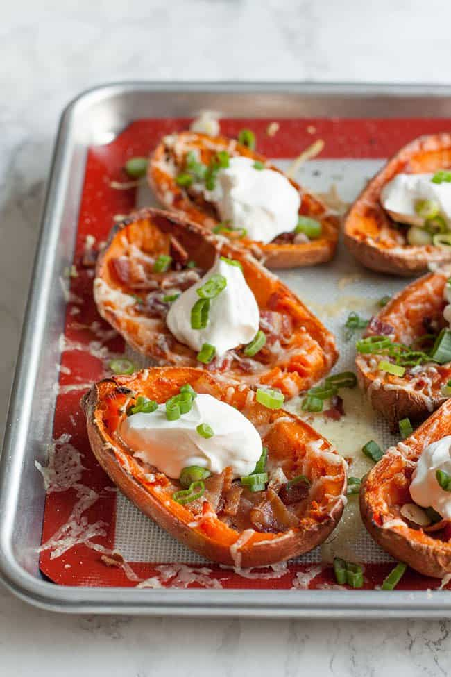 Loaded Sweet Potato Skins | Wholefully