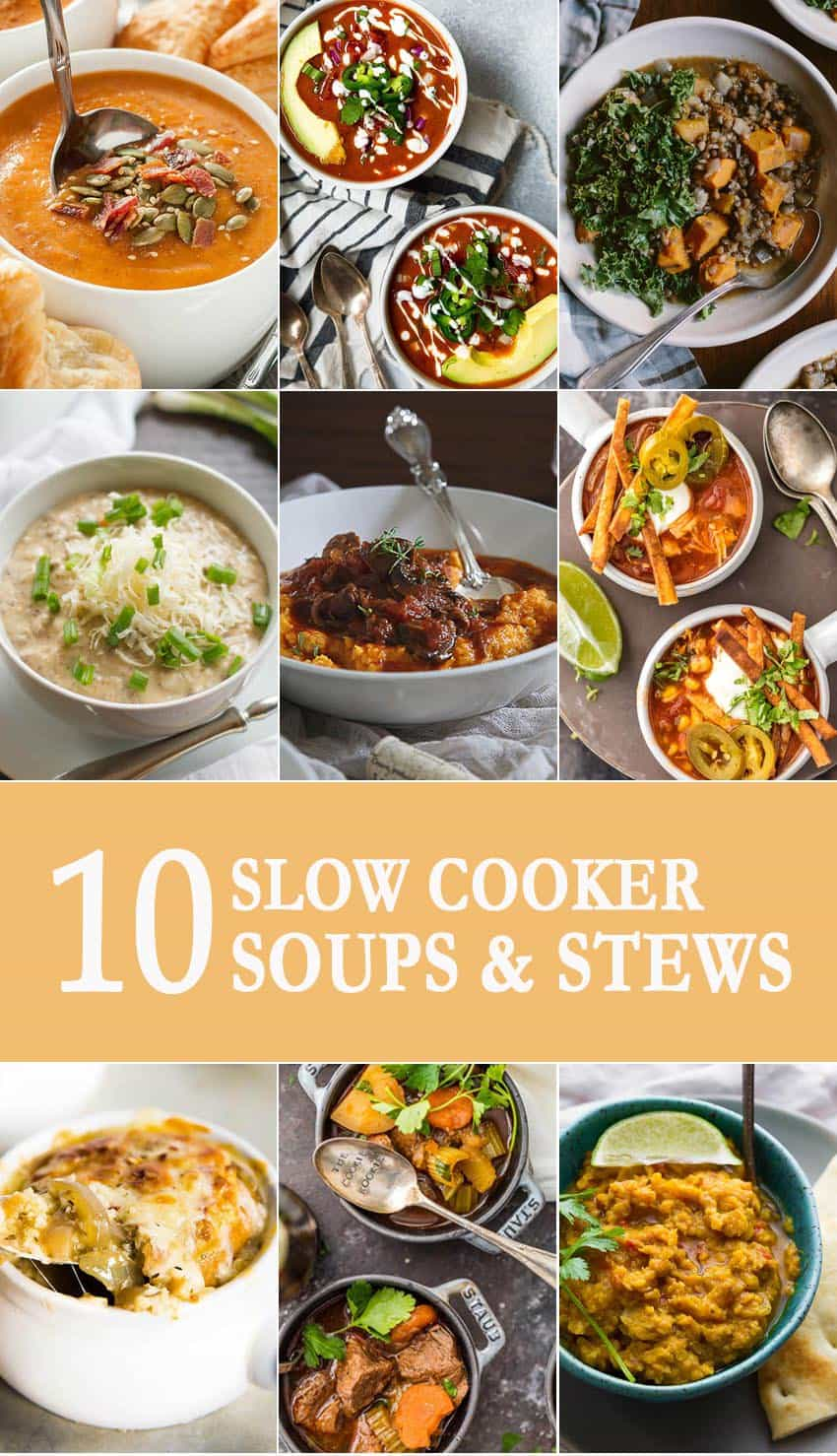 10 Slow Cooker Soups and Stews