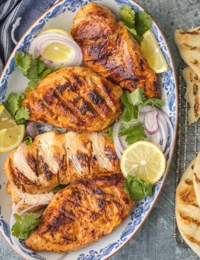 Tandoori Chicken on a platter