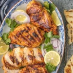 """This """"SMOKED"""" SKILLET TANDOORI CHICKEN is loaded with so much flavor you'll swear you used a smoker. Such a fun hack for a delicious and unique dinner at home."""