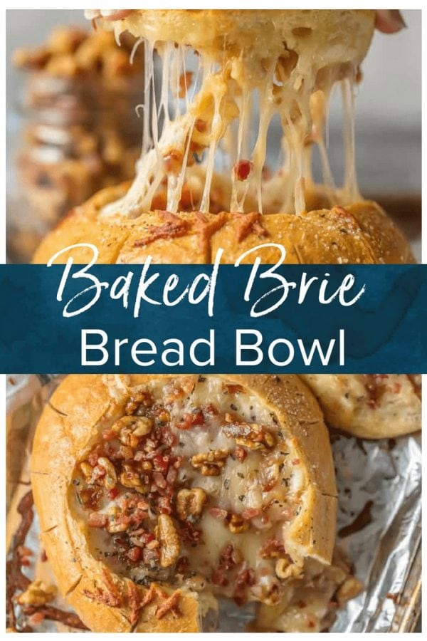 Your holiday table needs this CANDIED WALNUTS AND BACON BAKED BRIE BREAD BOWL! The ultimate pretty savory appetizer cheese lovers will devour!