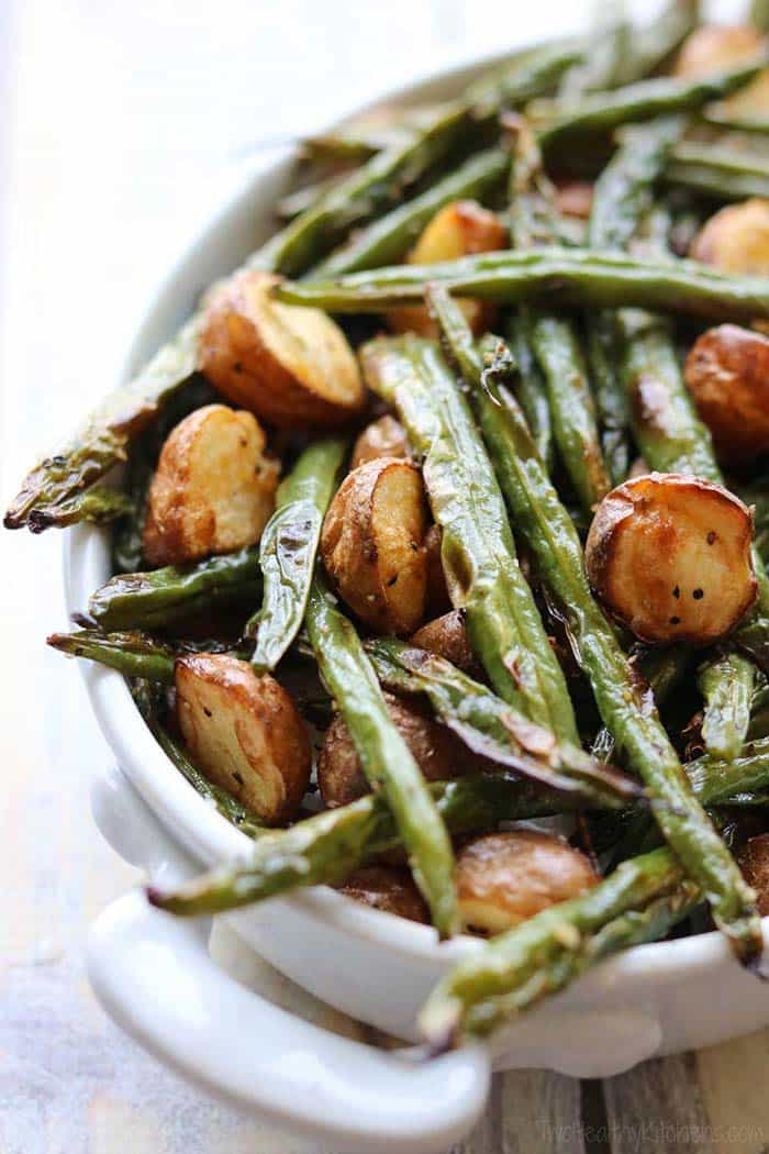 Blistered Green Beans with Potatoes | Two Healthy Kitchens
