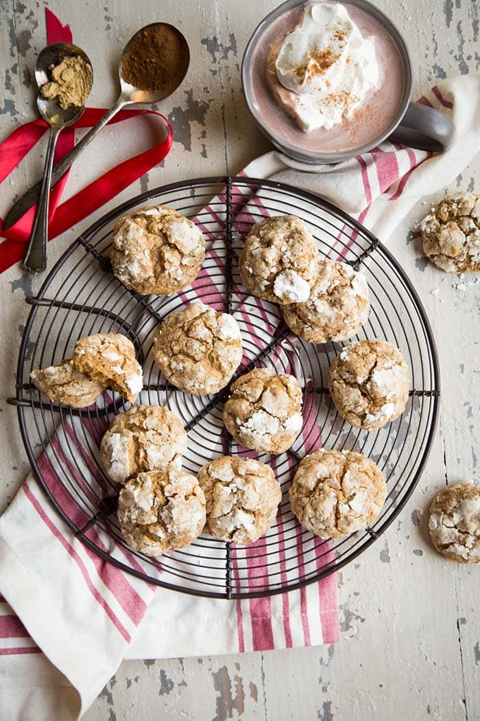 Gingerbread Crinkle Cookies | Country Cleaver