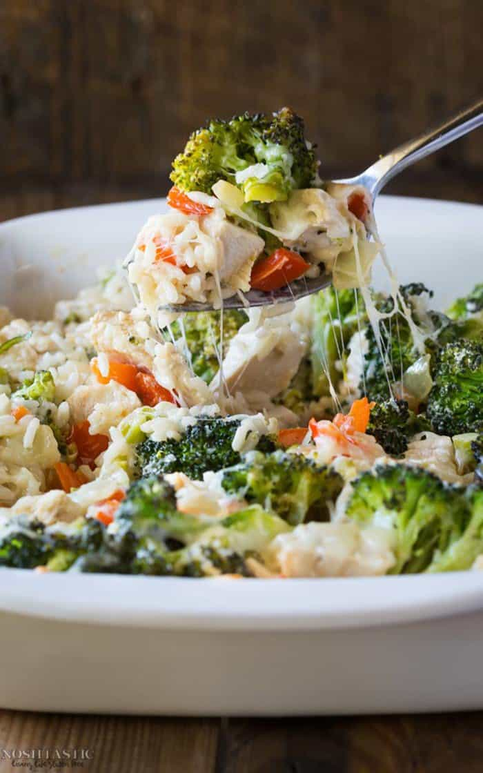 Gluten-free Broccoli Casserole with Rice and Cheese | Noshtastic