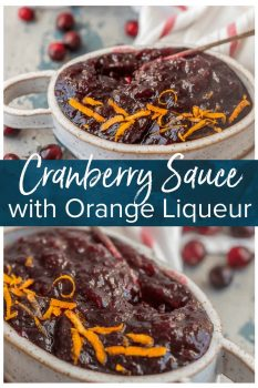 """This SPIKED CRANBERRY SAUCE is a fun twist on a classic Thanksgiving recipe. No holiday table is complete without Homemade Cranberry Sauce, and these are extra delicious and amazing! We call them """"sauced"""" cranberries."""