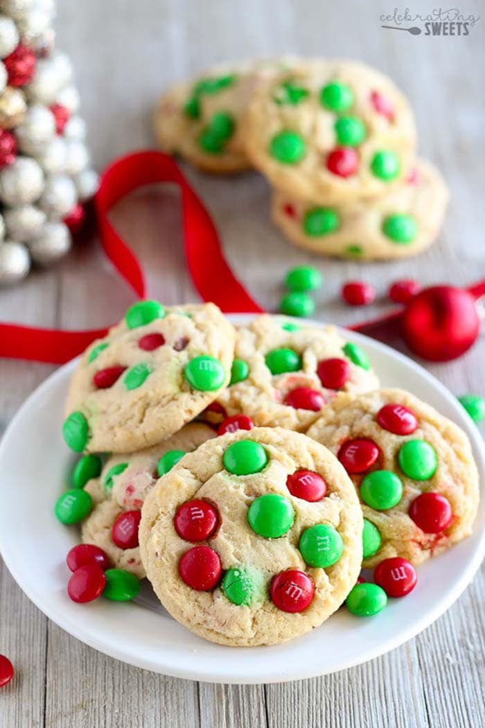 Soft and Chewy M&M Cookies | Celebrating Sweets