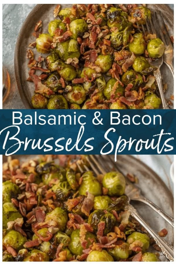 Balsamic Brussels Sprouts with Bacon and Pecans is one of my favorite easy brussels sprouts recipes! These Roasted Brussels Sprouts with Bacon and Balsamic and Pecans are packed with flavor and crunch. They are utterly delicious and fool proof.