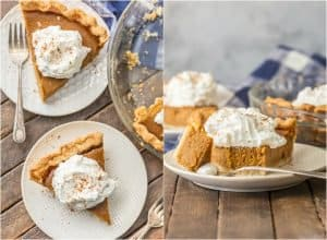 Elevate a classic with BROWN SUGAR PUMPKIN PIE! Utterly delicious and just begging to be the star of your Thanksgiving menu. Favorite pie EVER.