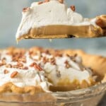 Butterscotch Pie is the most decadent dessert you'll have on your holiday table. This Butterscotch Pie Recipeis so rich and amazing everyone will be asking for the recipe. It's just like your Grandma's Butterscotch Pie from years ago. This classic pie is perfect for easy holiday baking, especially perfect for Thanksgiving, Christmas, and Easter!