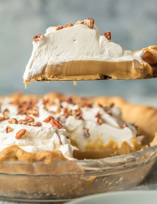 Butterscotch Pie is the most decadent dessert you'll have on your holiday table. This Butterscotch Pie Recipe is so rich and amazing everyone will be asking for the recipe. It's just like your Grandma's Butterscotch Pie from years ago. This classic pie is perfect for easy holiday baking, especially perfect for Thanksgiving, Christmas, and Easter!