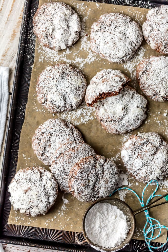 I love for CHOCOLATE GOOEY BUTTER CAKE COOKIES! Being from St. Louis, we are big fans of gooey butter cake. It's even better when you add chocolate and make into cookie form! One of my favorite Christmas cookies!