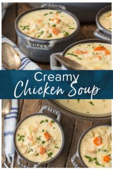 creamy c hicken soup pinterest image
