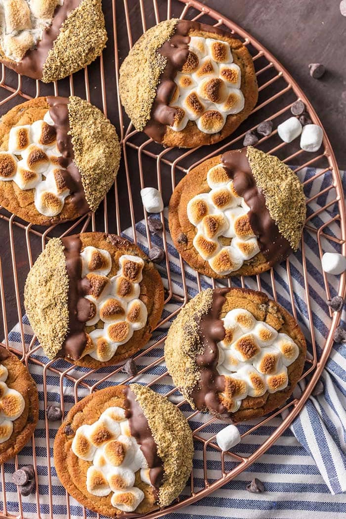 Easy S'mores Cookies | The Cookie Rookie