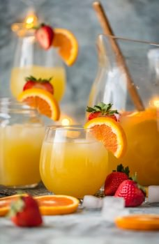 This FESTIVE GRAPEFRUIT BEER SANGRIA is simple, delicious, and so pretty! Leinenkugel's Grapefruit Shandy, orange juice, and club soda is all you need. Garnish your Grapefruit Sangria with fruit and you're in business!