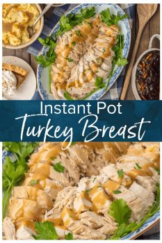Instant Pot Turkey Breast is a great and EASY way to cook your Thanksgiving Turkey! You can cook this pressure cooker turkey breast recipe in under 1 hour & be ready for Thanksgiving! Cooking Turkey Breast in an instant pot takes is just so easy!